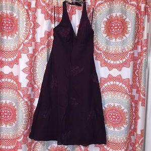 Express 4 Brown Halter Top Dress